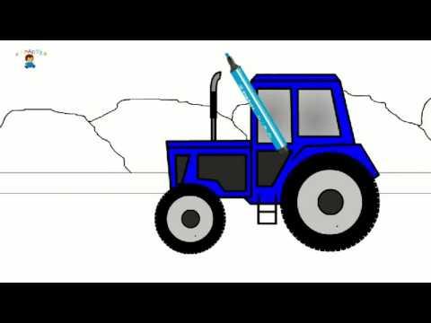 Eğitici çizgi Film Boyama Kitabı Traktör çizgi Film Video Free