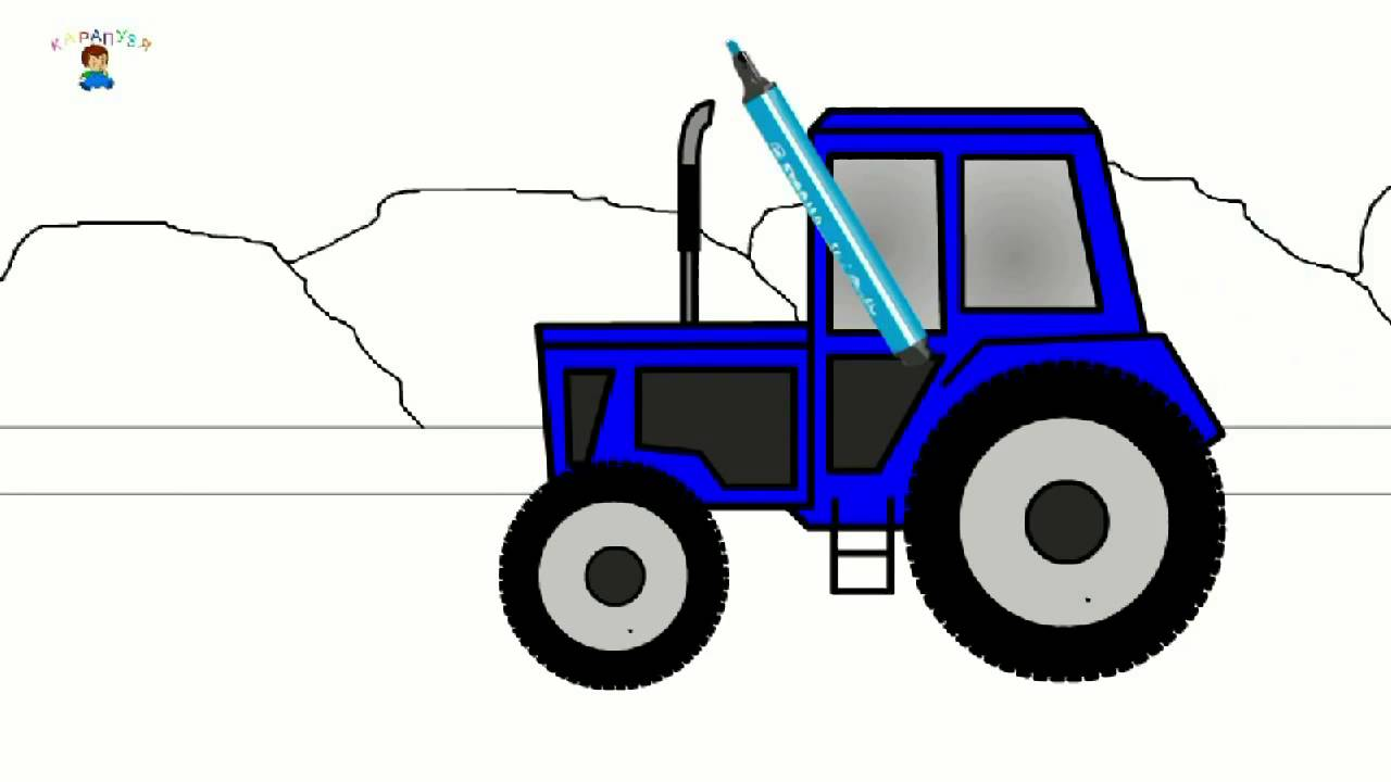 Egitici Cizgi Film Boyama Kitabi Traktor Youtube