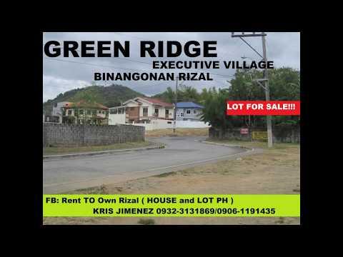 GREEN RIDGE EXECUTIVE VILLAGE LOT FOR SALE in BINANGONAN
