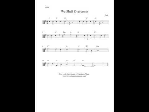 Free Viola Sheet Music We Shall Overcome Youtube