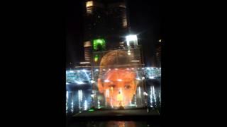 Soumitra @ Dubai 3D Laser Show near Burj Khalifa