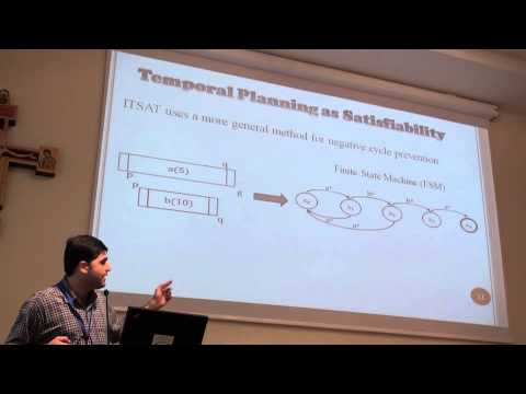 ICAPS 2013: Masood F. Rankooh - New Encoding Methods for SAT-Based Temporal Planning