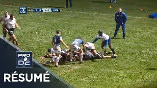 PRO D2 - Résumé Aurillac-Vannes: 17-23 - J14 - Saison 2018/2019