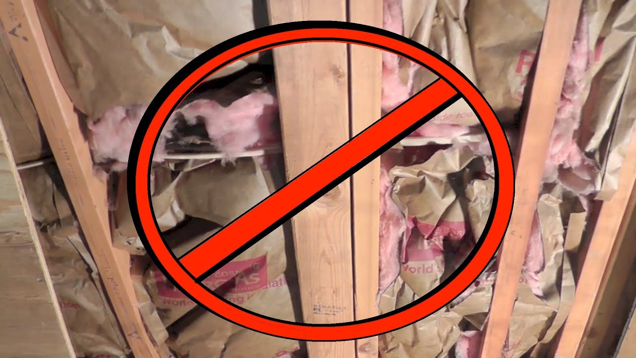 how not to install wall insulation youtube