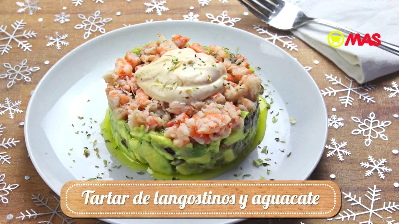 Tartar de aguacate y langostinos youtube - Coctel de marisco con aguacate ...