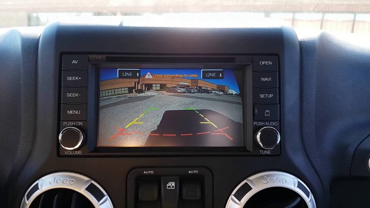 Installation oem fit navigation and backup reverse camera for jeep wrangler youtube