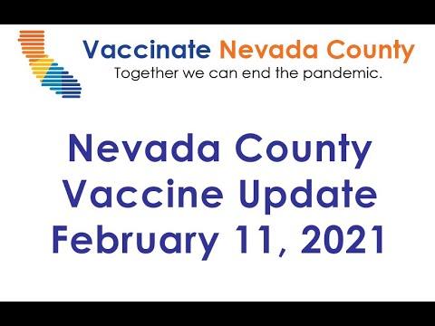 Nevada County Vaccine Status Update Feb. 11, 2021