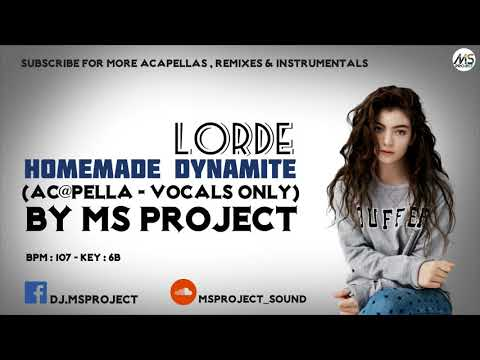 Lorde - Homemade Dynamite (Studio Acapella -  Vocals Only)