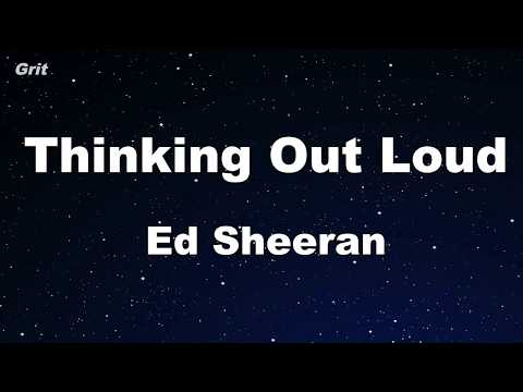 Thinking Out Loud - Ed Sheeran Karaoke 【No Guide Melody】 Instrumental