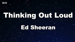 Thinking Out Loud - Ed Sheeran Karaoke 【No Guide Melody】 Instrumental