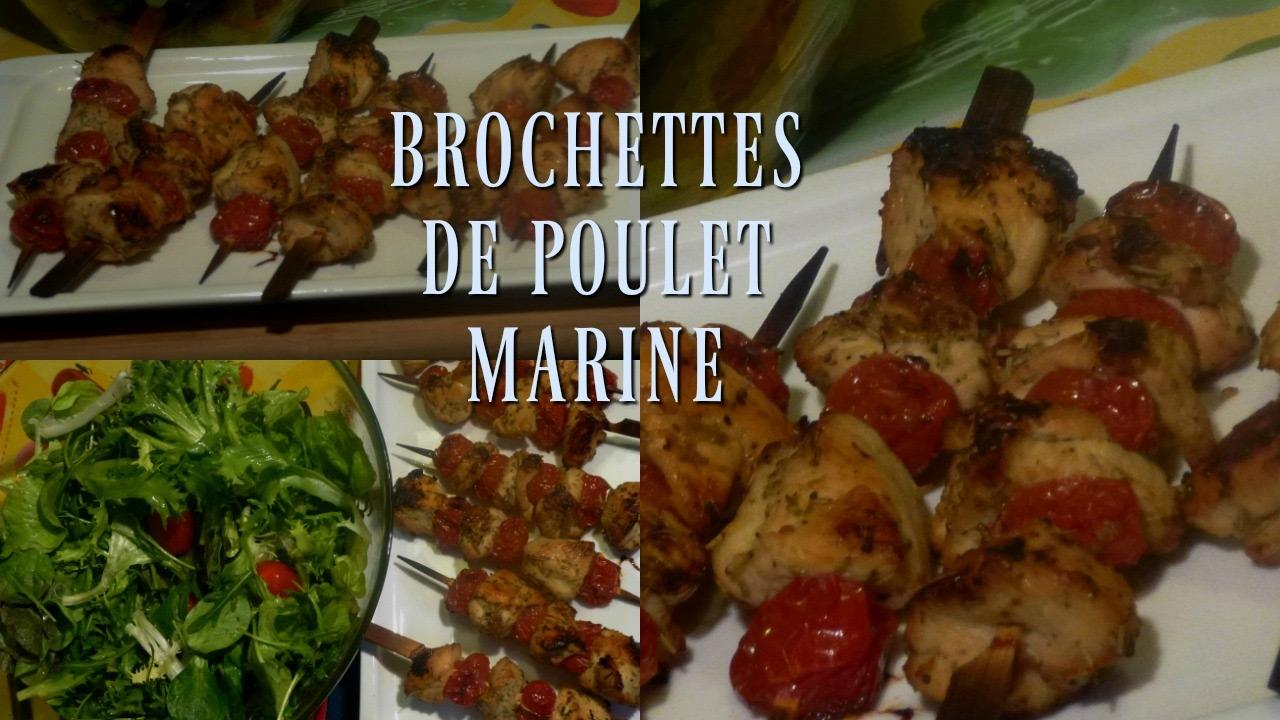 Brochettes de poulet mariné - Facile rapide et très bon- Marinated chicken skewers