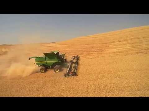 Harvest on the Palouse near Rosalia- 2016- by Palouse-Rock Lake Conservation District