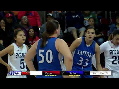 Safford vs Page Girls 3A State Basketball Quarerfinals Full Game