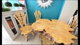 Крутая мебель из слэбов и спилов ручной работы.