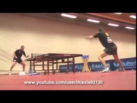 Timo Boll - trening slow motion