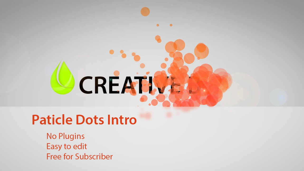 FREE After Effects Template - Particle Dots Intro - YouTube