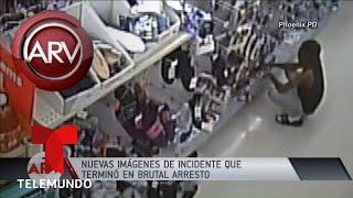 Nuevo video de robo que termino en brutal arresto Al Rojo Vivo Telemundo