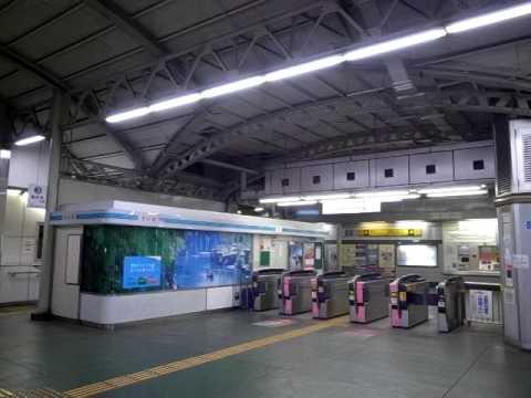 """Nighttime Ogawa Station - Mostly Empty"" (100223-2229)"