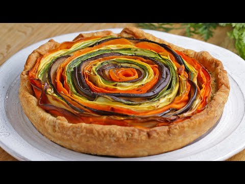 Rainbow Veggie And Pesto Tart