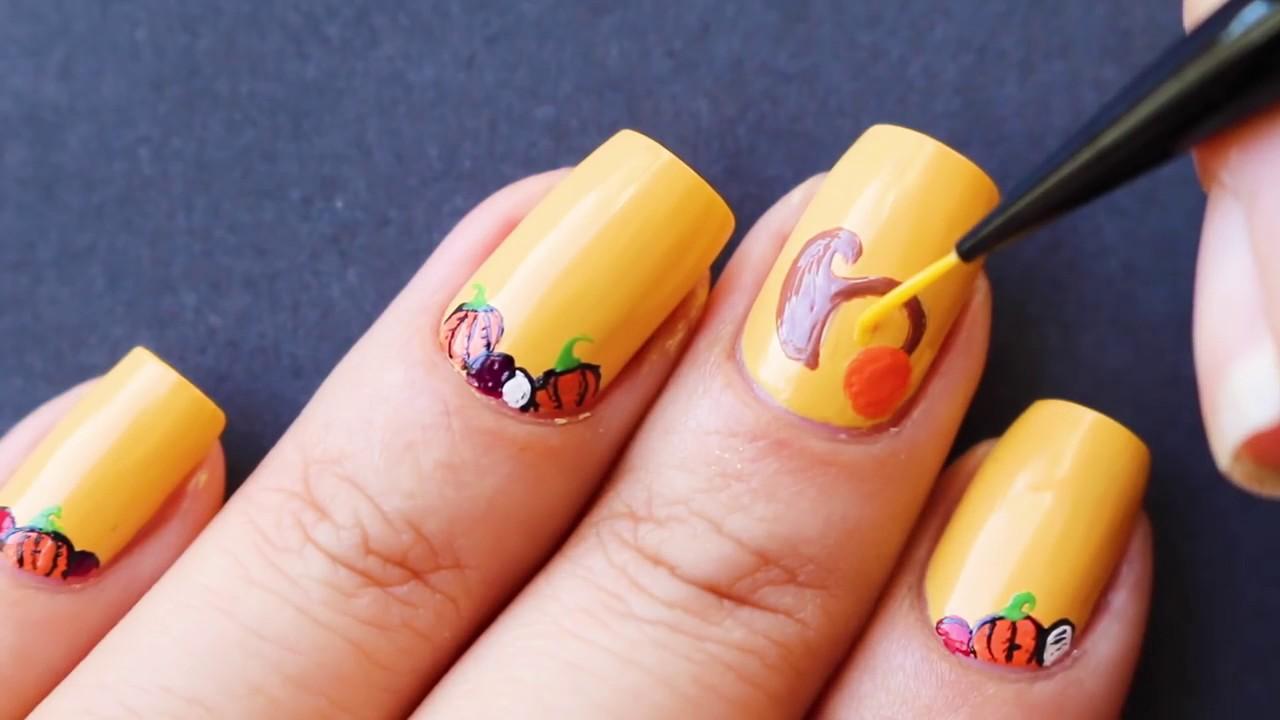 Opi Featured Nail Artist Banicured Cornucopia Nail Art Youtube