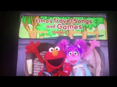 Elmo's Travel Songs And Games Menu Walkthrough