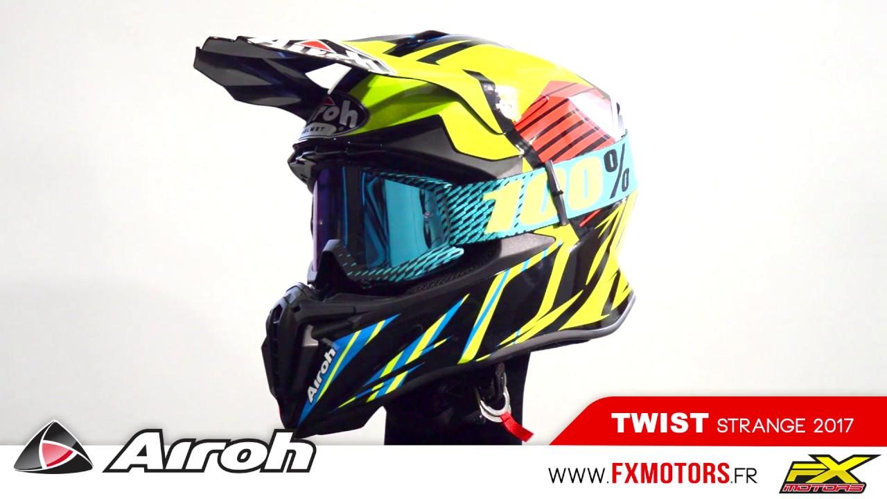 Casque Motocross Airoh Twist Strange Blue 2017 Youtube