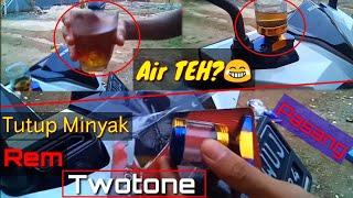Pemasangan Tutup Minyak Rem Twotone Dimotor Honda Beat New #7