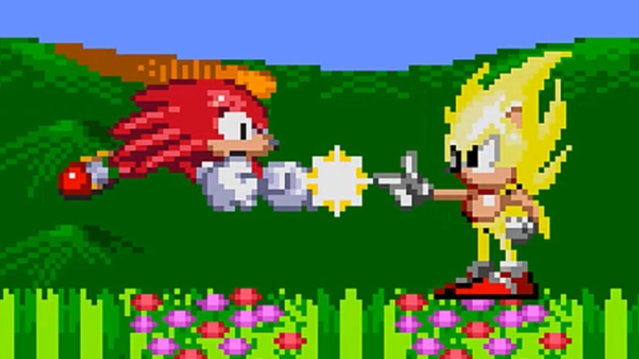 Sonic Is Bullying Knuckles Sprite Animation