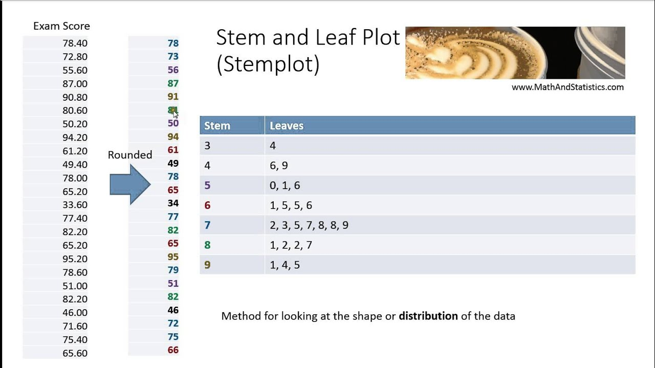 How To Video Dr Ami Gates Moot Intro Stats Stem And Leaf Plot