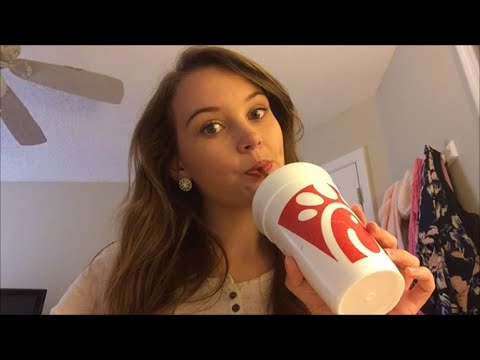 50K Subscribers! ASMR Eating Chick-fil-a Celebration