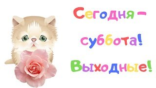 С добрым субботним утром! Желаю отлично провести выходные!