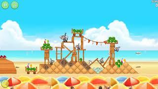 """🐓🕊🦅🐦 Angry Birds Rio. Эпизоды """"Пляжный волейбол"""" (""""Beach Volley""""). Прохождение."""