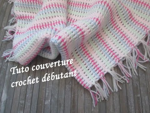 tuto couverture plaid bebe au crochet mermaid blanket crochet manta a cuadros bebe crochet youtube. Black Bedroom Furniture Sets. Home Design Ideas