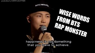 Video BTS RM Wise Words Compilation download MP3, 3GP, MP4, WEBM, AVI, FLV Juni 2018