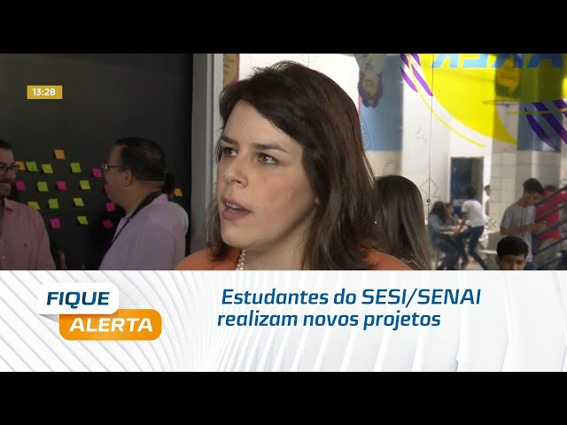 'Espaço Maker': Estudantes do SESI/SENAI realizam novos projetos