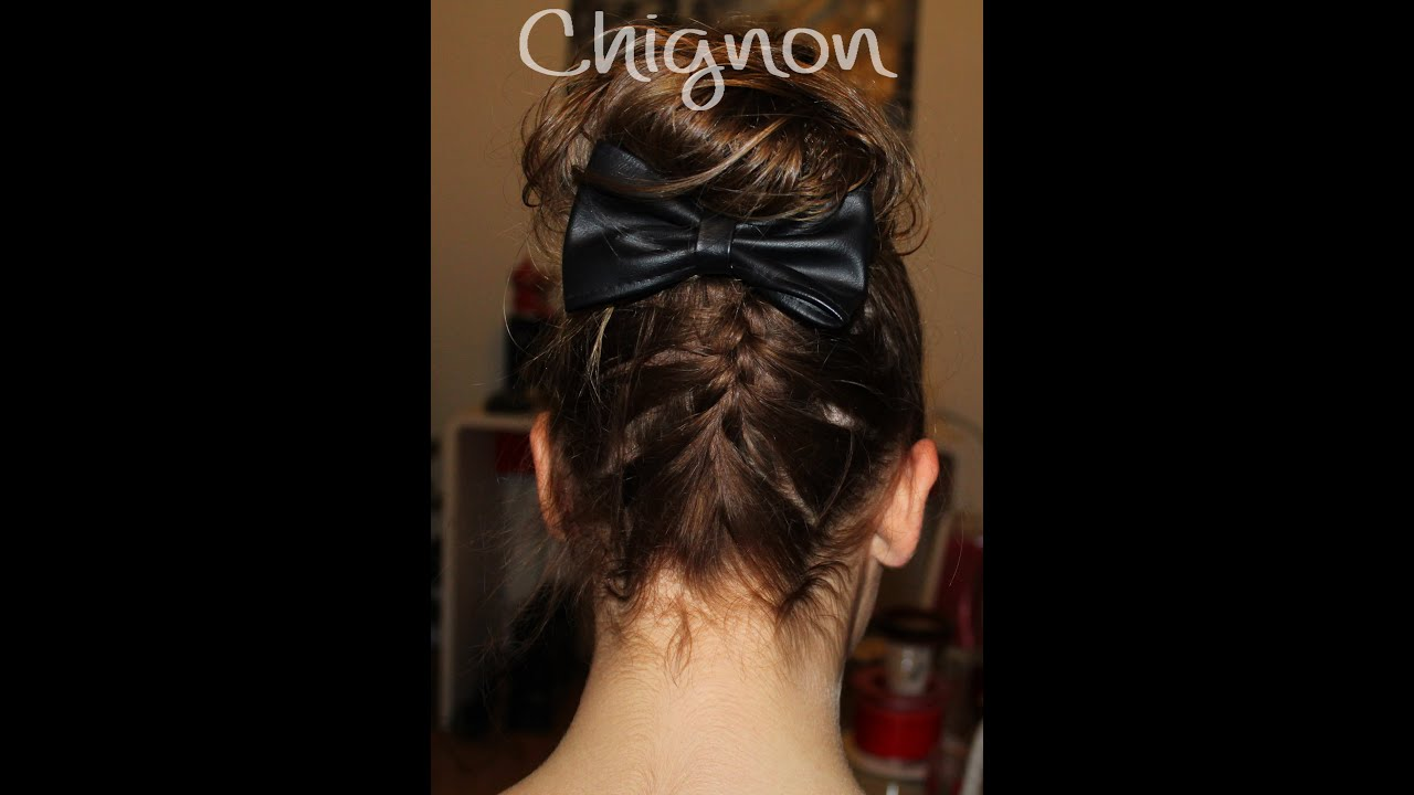 tuto coiffure n 2 chignon avec tresse youtube. Black Bedroom Furniture Sets. Home Design Ideas