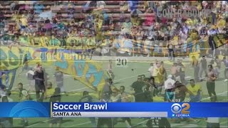 Fans Of Mexican Soccer Teams Brawl In Santa Ana