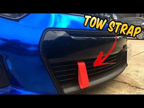 How To Install a TOW STRAP - Toyota Corolla - YouTube