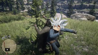 Guy with ULTRA INSTINCT in RED DEAD REDEMPTION 2 Online