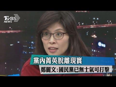 黨內菁英脫離現實 鄭麗文:國民黨已無士氣可打擊