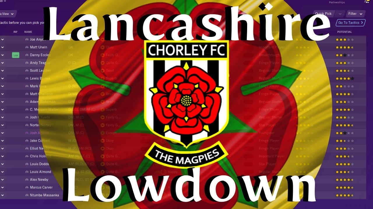 Fm20 Lancashire Lowdown Chorley Fc Squad Review Football Manager 2020 Youtube