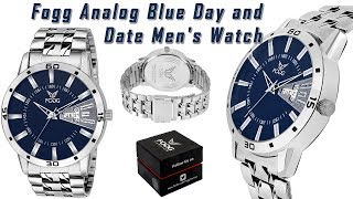 Fogg Analog Blue Day and Date Men's Watch 2038 BL