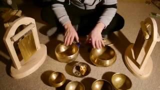 Поющие чаши. Тибетские чаши. Медитация открытие сердца. Набор поющих чаш