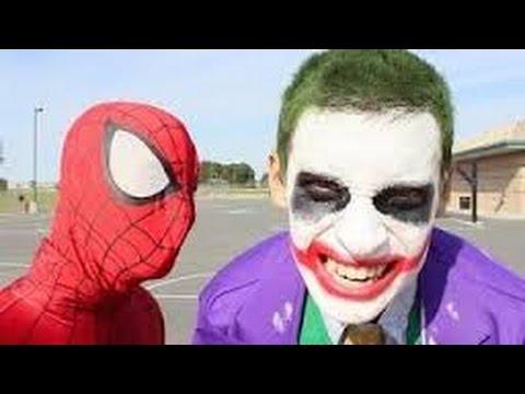Spiderman Vs Joker In Real Life Bath Time Superhero Battle New Youtube