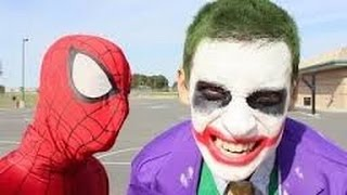 Spiderman Vs Joker In Real Life Bath Time Superhero Battle New Youtube