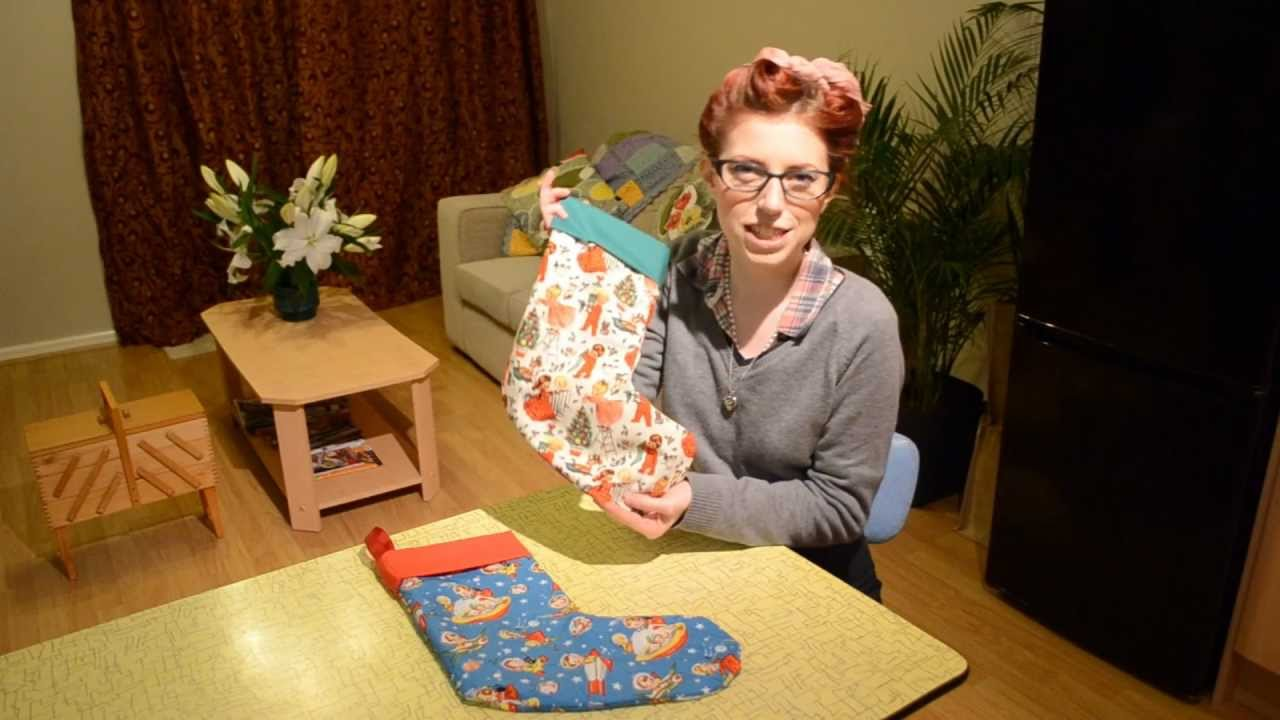 How To Make A Christmas Stocking Youtube