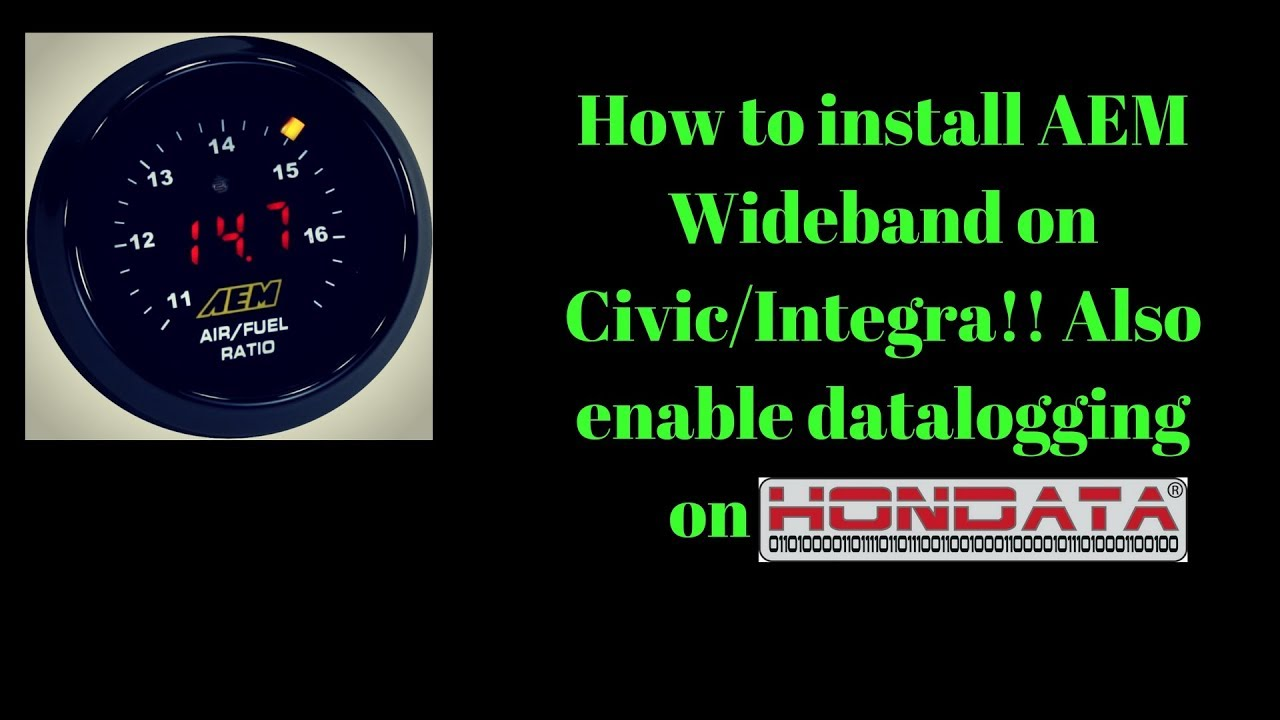 how to install aem wideband on honda civic eg integra enable data logging on hondata s300 youtube [ 1280 x 720 Pixel ]