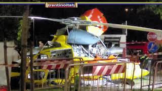✌️#✌️precipitato elicottero vigili fuoco vicino al palazzetto dello sport a trento