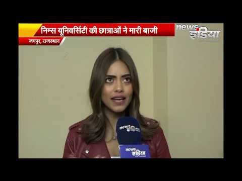 Nims Girls At Campus Princess 2019 In Jaipur | News India Rajasthan | Ramp Walk