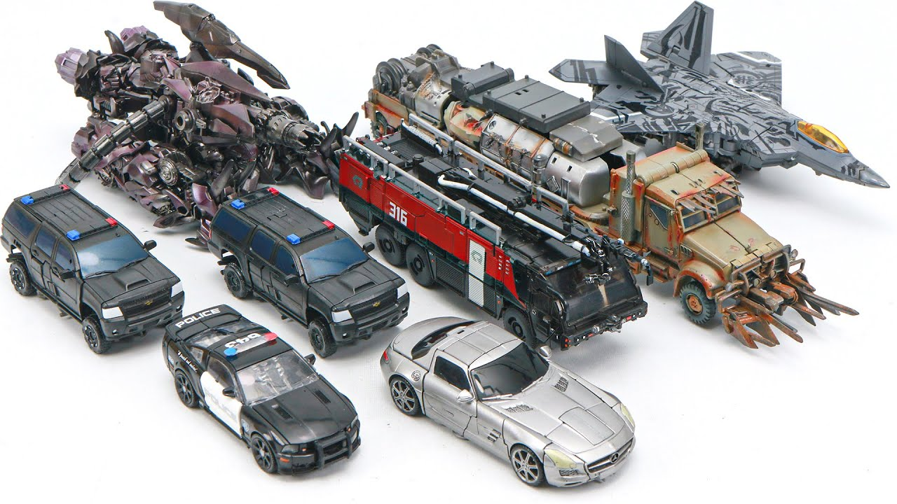 Download Transformers 3 DOTM Movie Studio Series Decepticons 8 Vehicles Transform Robot Toys